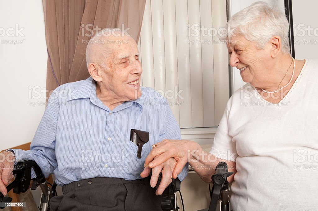 Old Person Couple royalty-free stock photo