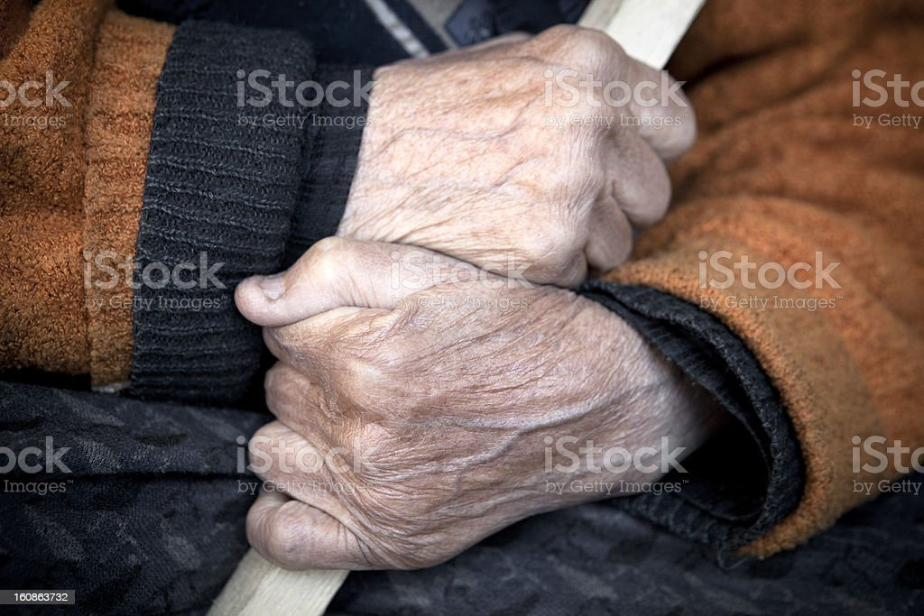Old person hand. royalty-free stock photo