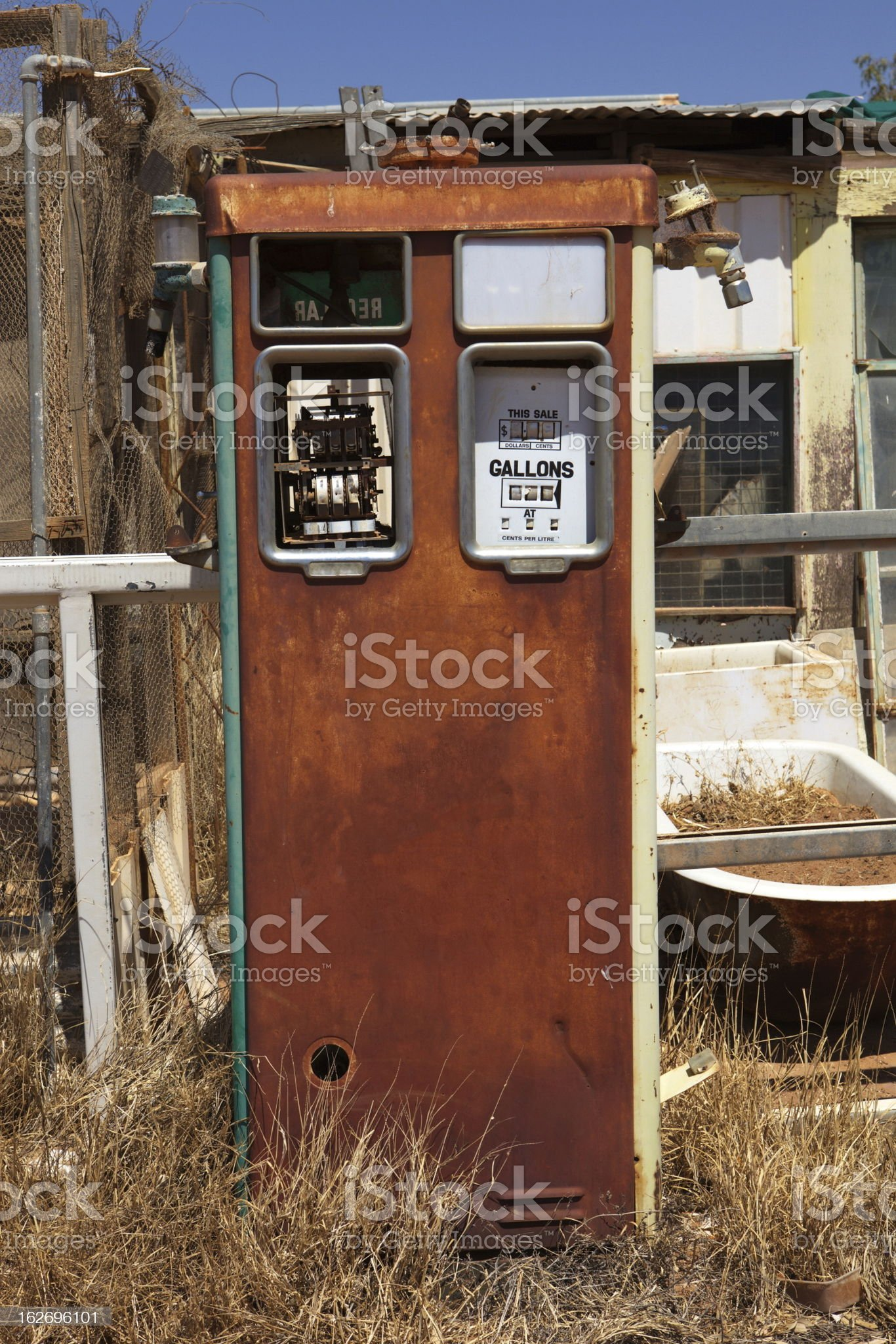 Old Petrol Pump royalty-free stock photo
