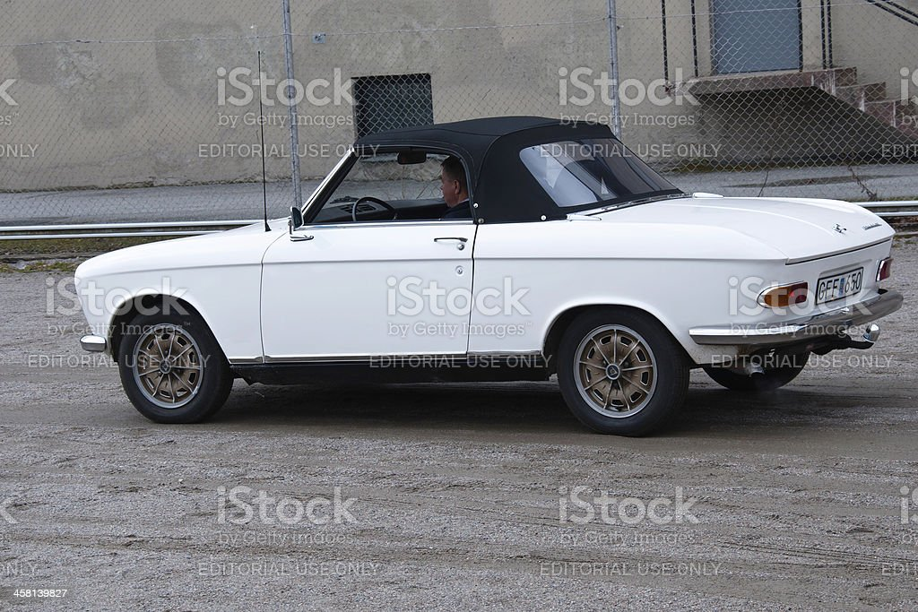 Old PEUGEOT 204 CABRIOLET stock photo
