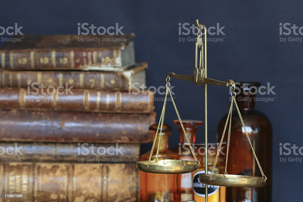 Old pharmacy stock photo