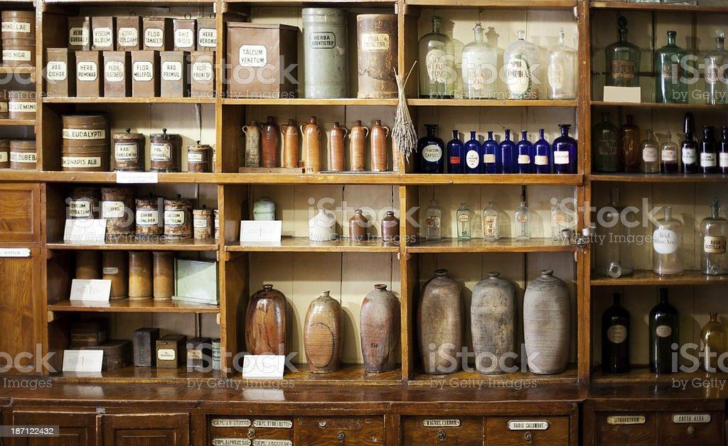 Old pharmacy royalty-free stock photo