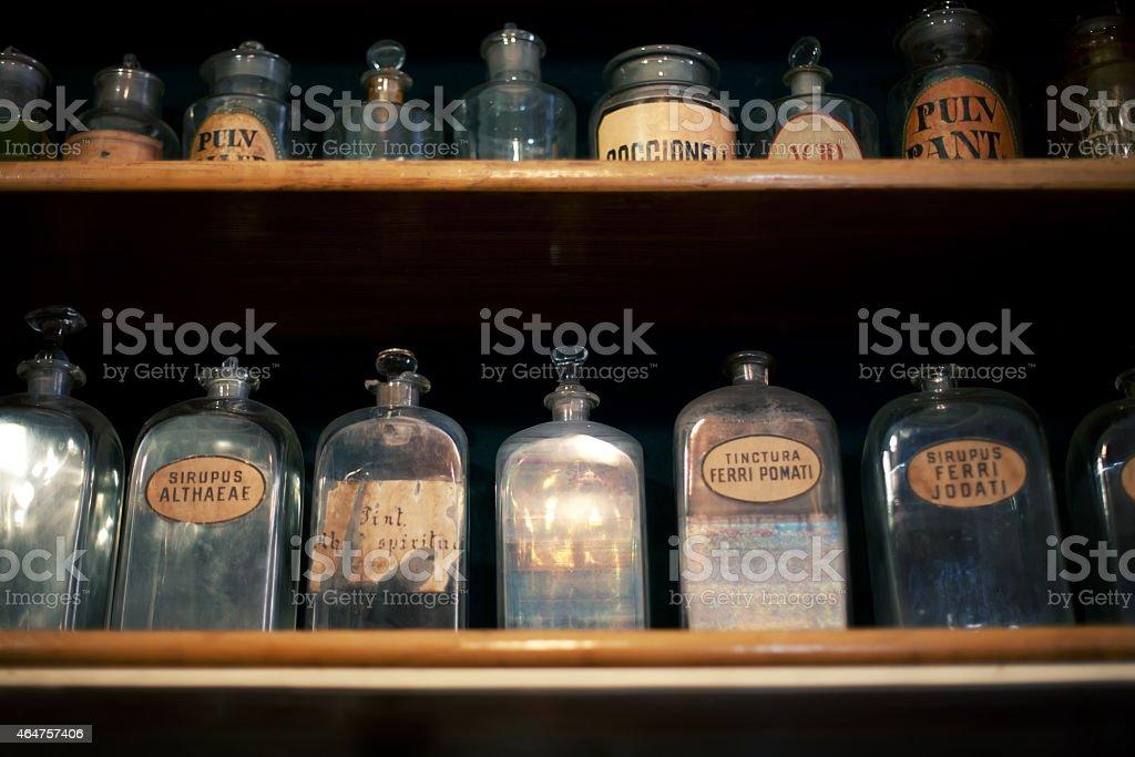 old pharmacy stock photo