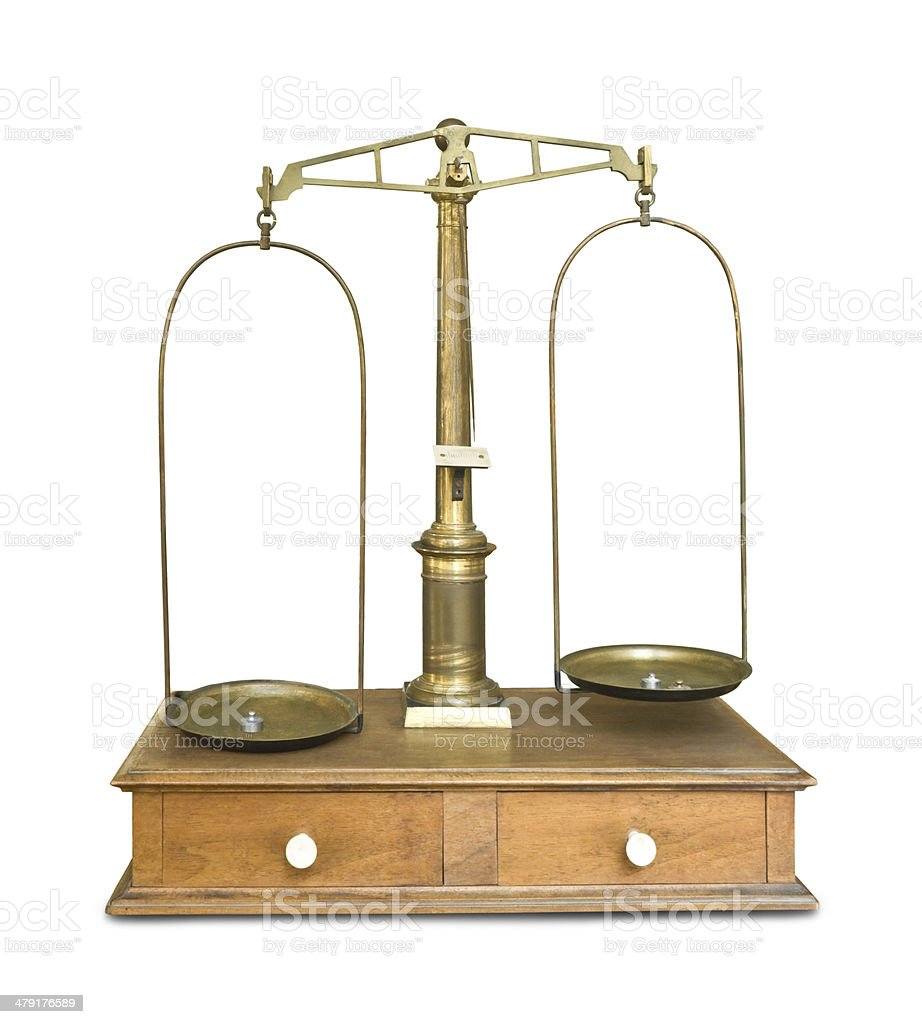 Old pharmacy scale, c. 1900 stock photo