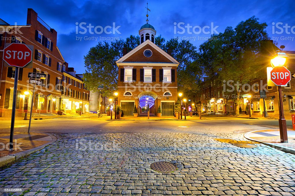 Old Philadelphia street stock photo