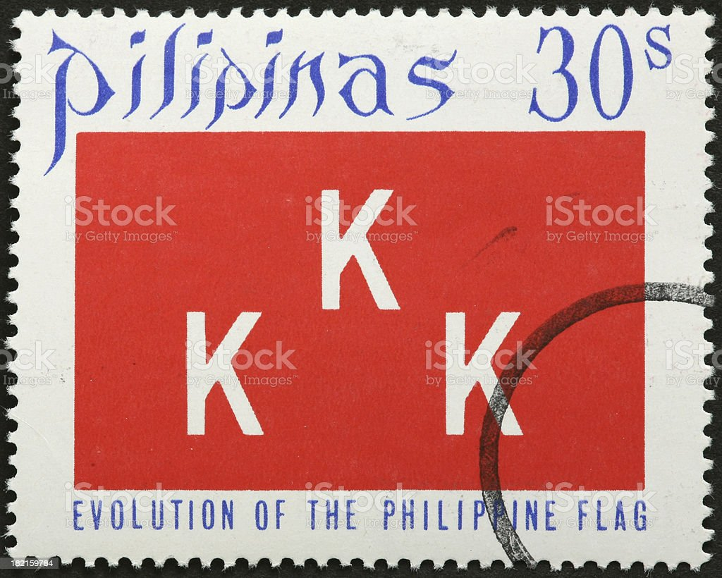old Philippine flag with three Ks royalty-free stock photo