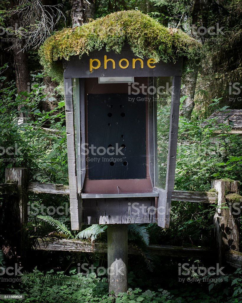 Old Phone Booth stock photo