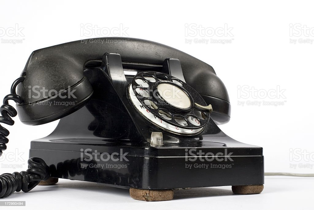Old phone low angle royalty-free stock photo