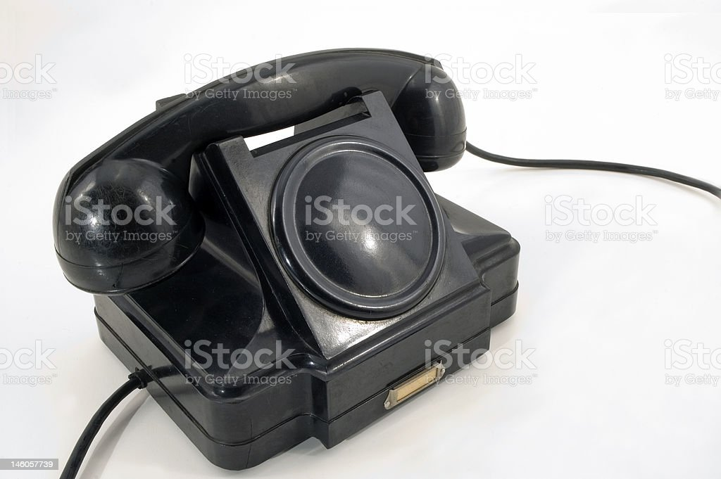 Old Phone. royalty-free stock photo