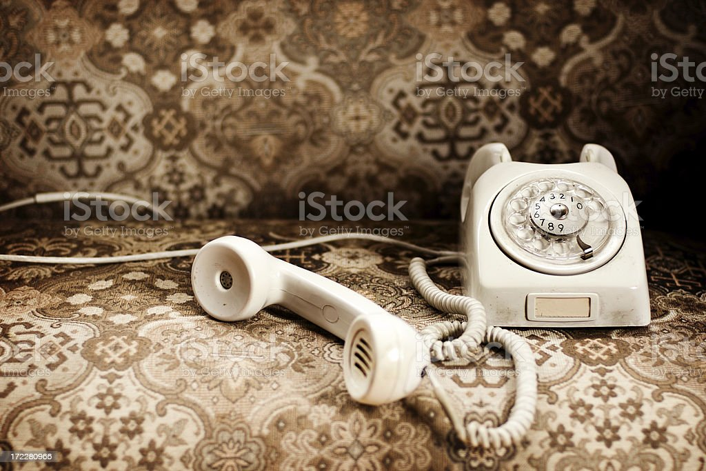 Old phone royalty-free stock photo