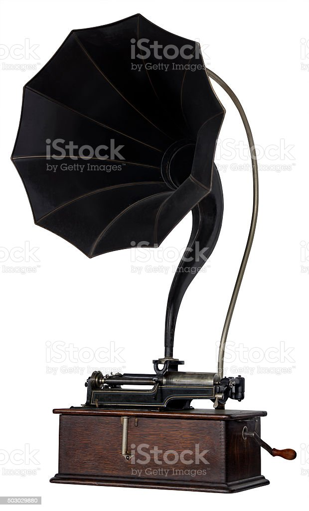 Old phonograph stock photo