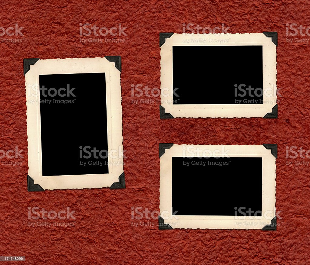 Old Photo Album Page royalty-free stock photo