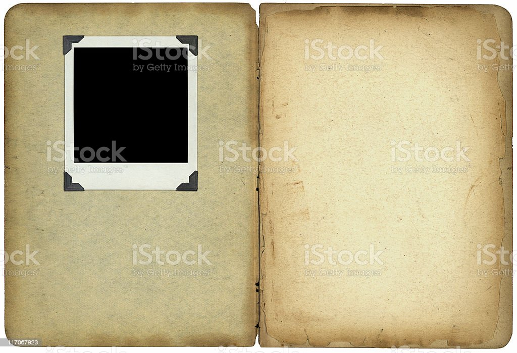 Old photo album royalty-free stock photo