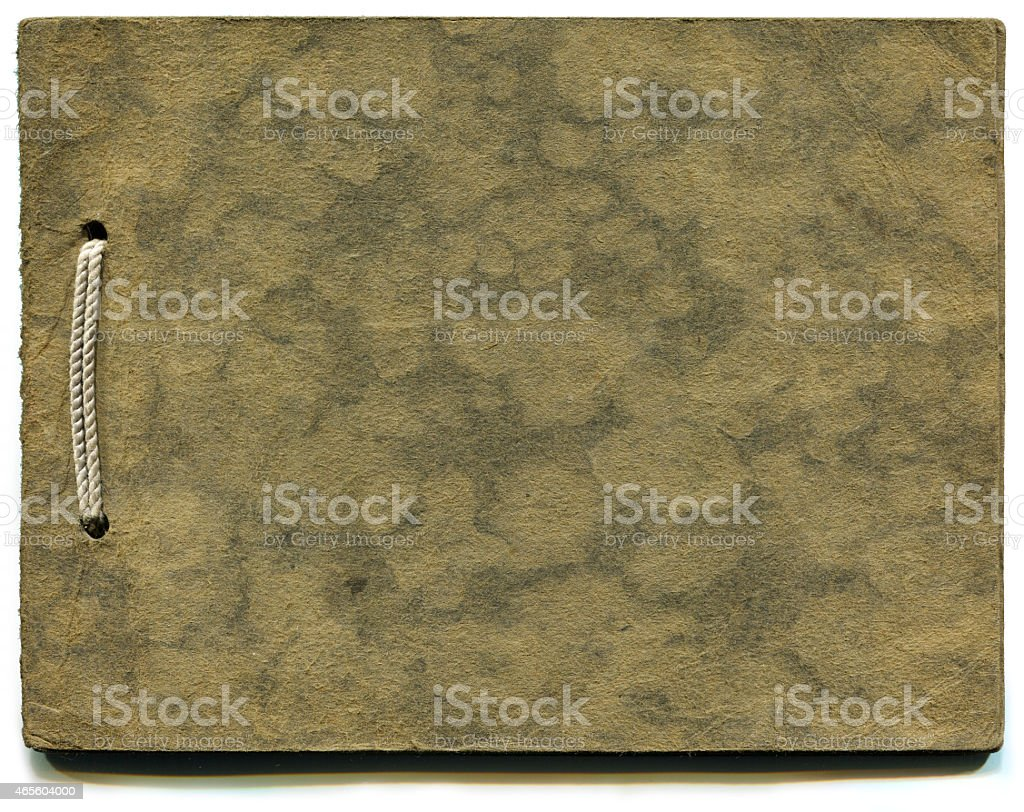 Old Photo Album (with clipping path) stock photo