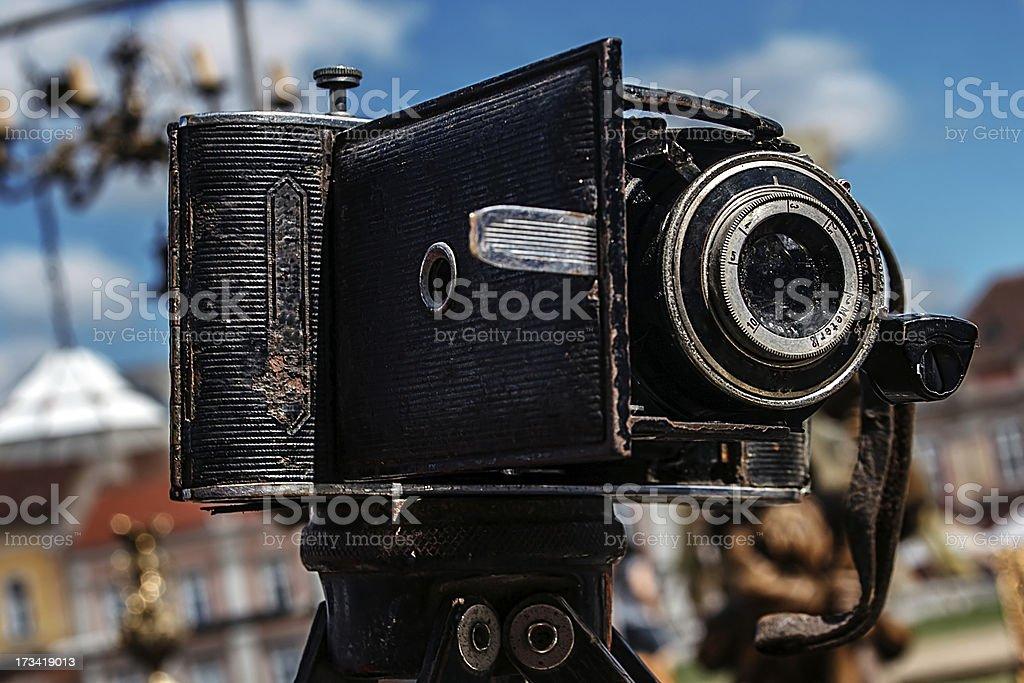 Old photo camera royalty-free stock photo