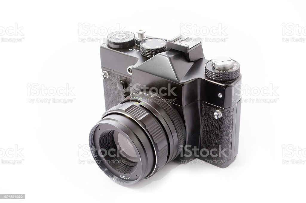 Old photo camera royalty-free stock photo