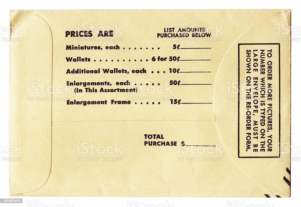 Old Photo Envelope royalty-free stock photo