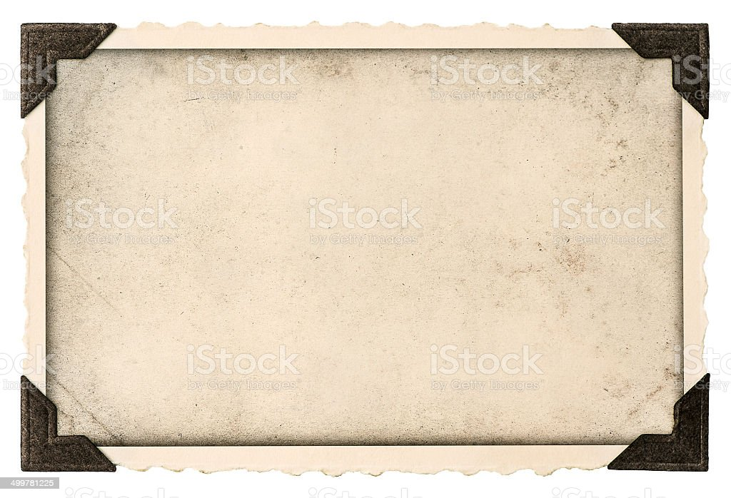 old photo frame with corner for your picture stock photo