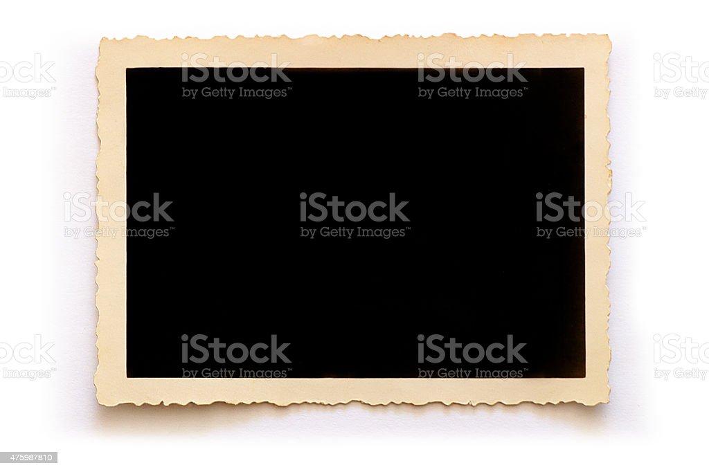 Vecchia foto (con clipping path) foto stock royalty-free