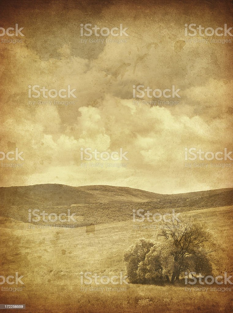 old photo zen landscape royalty-free stock photo