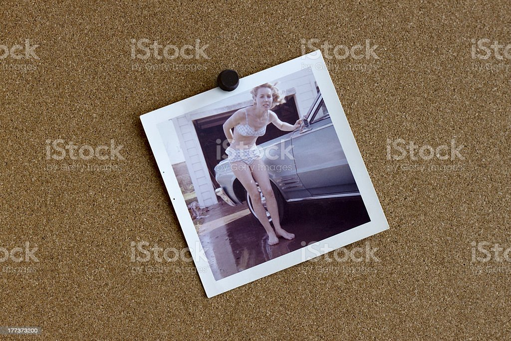 Old Photograph from the 1960's of a Woman and her royalty-free stock photo