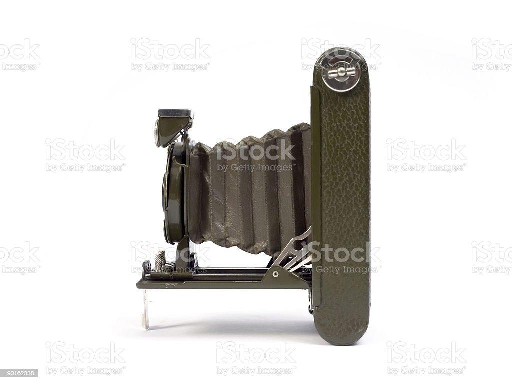 Old photographic camera royalty-free stock photo