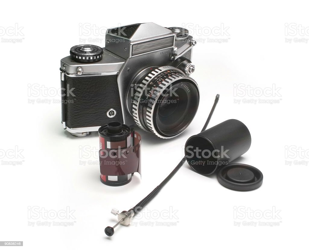 Old photographic equipment royalty-free stock photo