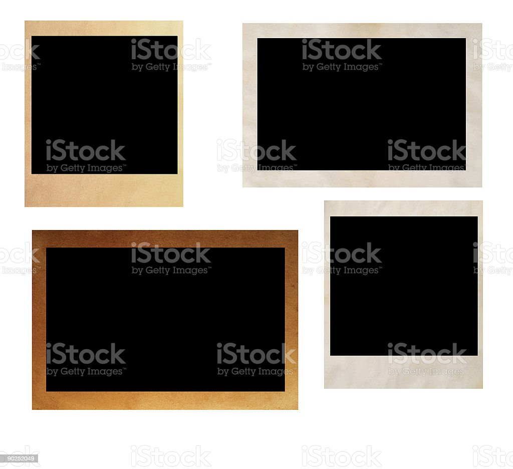 old photography frames stock photo