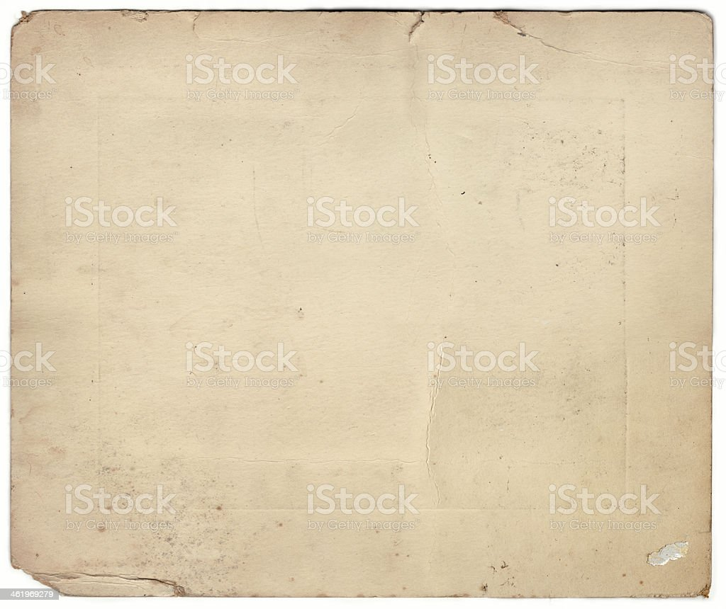 Old Photography Mounting Card (includes Clipping Path) stock photo