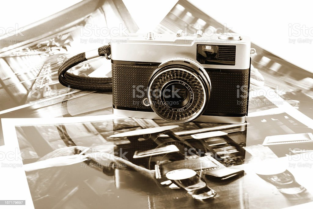 Old photography stock photo