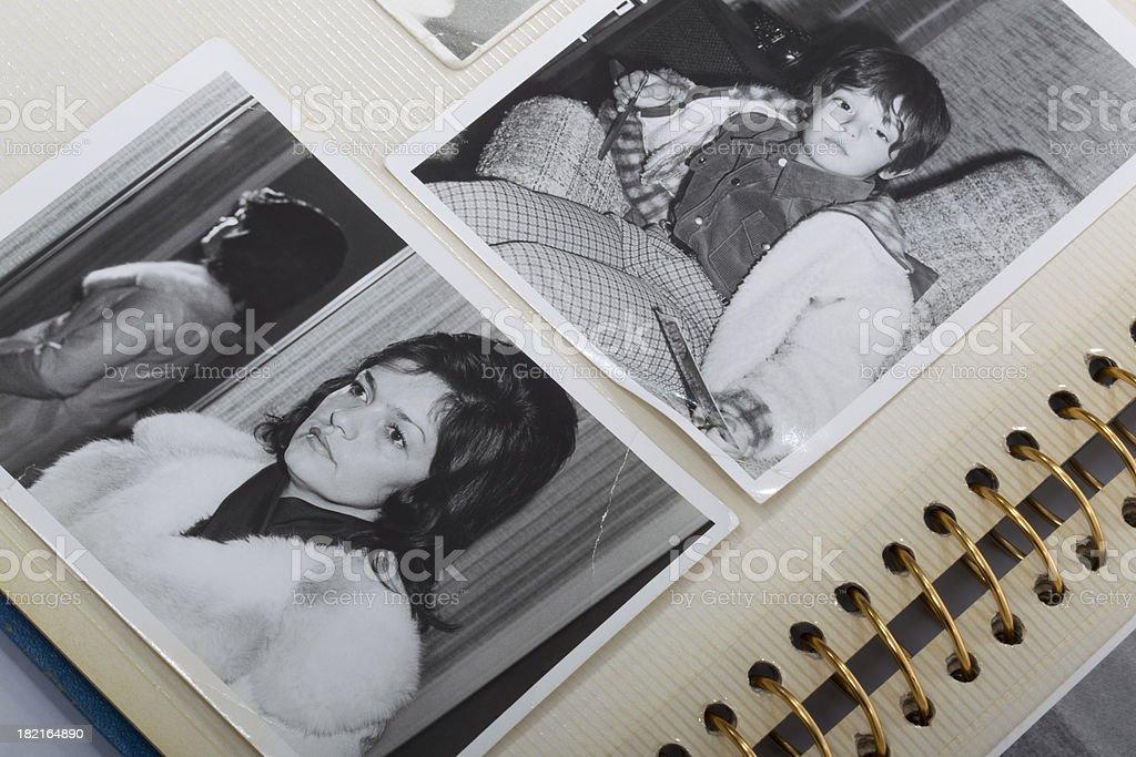 Old photos and album stock photo