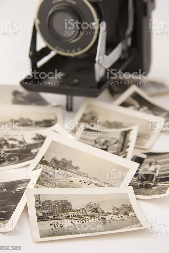 Old Photos and Camera royalty-free stock photo