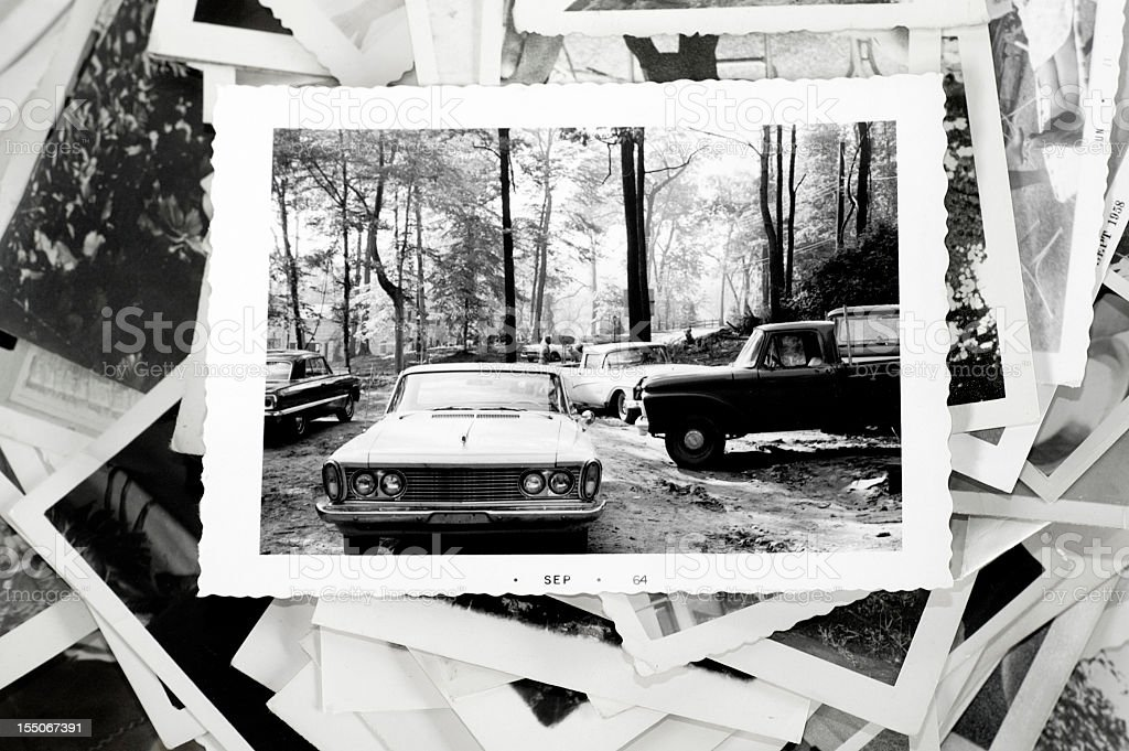 Old Photos and Cars royalty-free stock photo