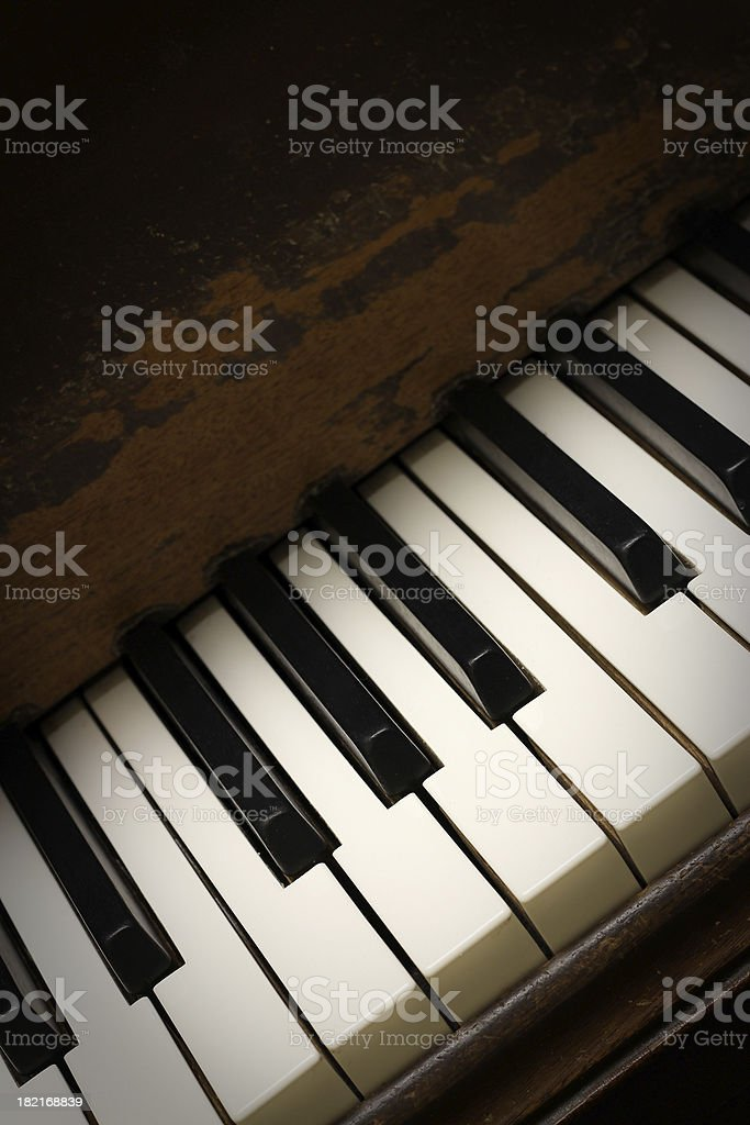Old Piano Blues royalty-free stock photo