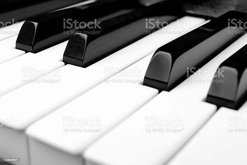 Old piano keys royalty-free stock photo