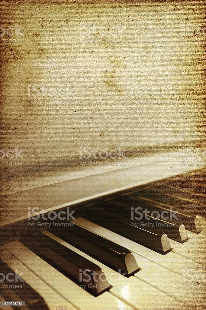 old piano paper royalty-free stock photo