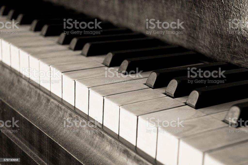 Old Piano stock photo
