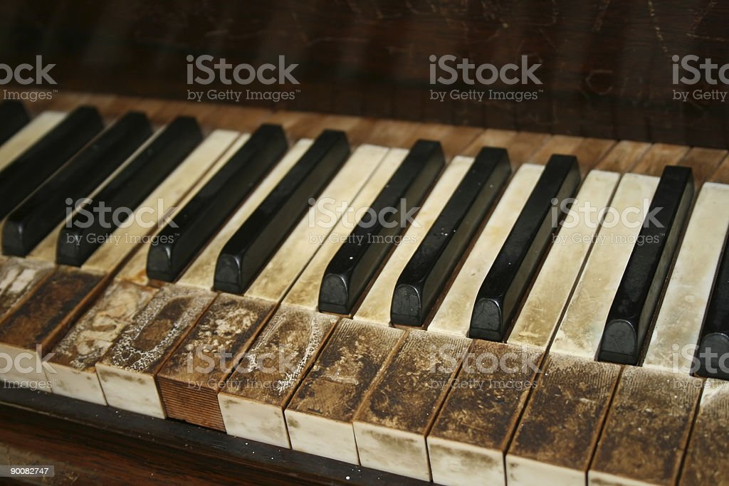 Old piano royalty-free stock photo