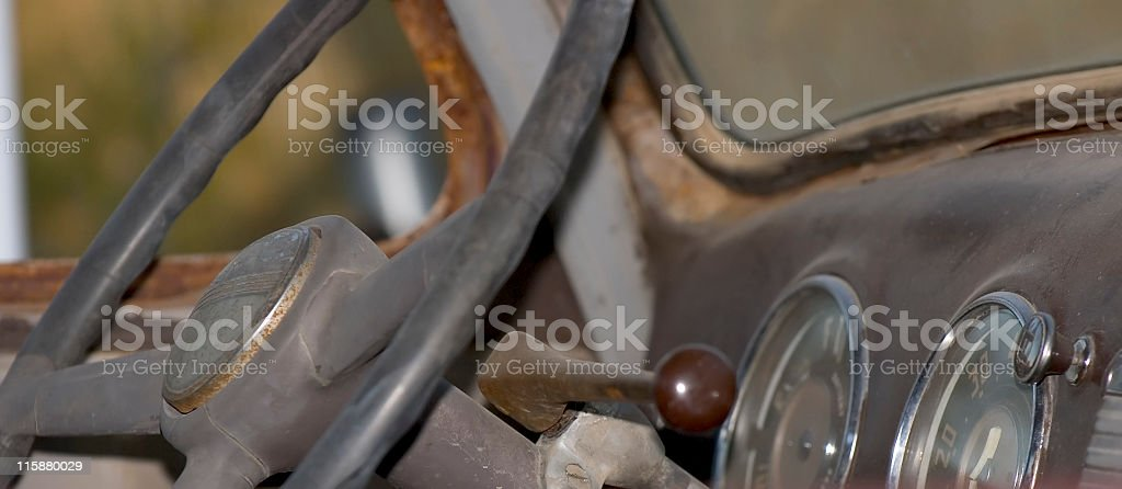Old Pickup Truck Cab royalty-free stock photo