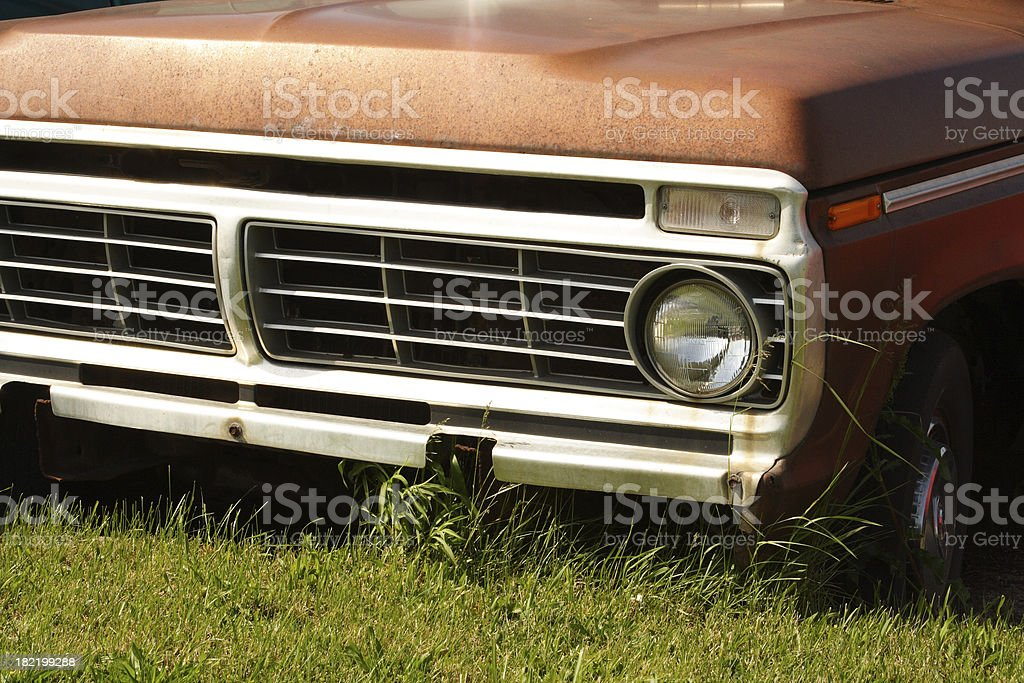 Old Pickup Truck - Detail of Front End royalty-free stock photo
