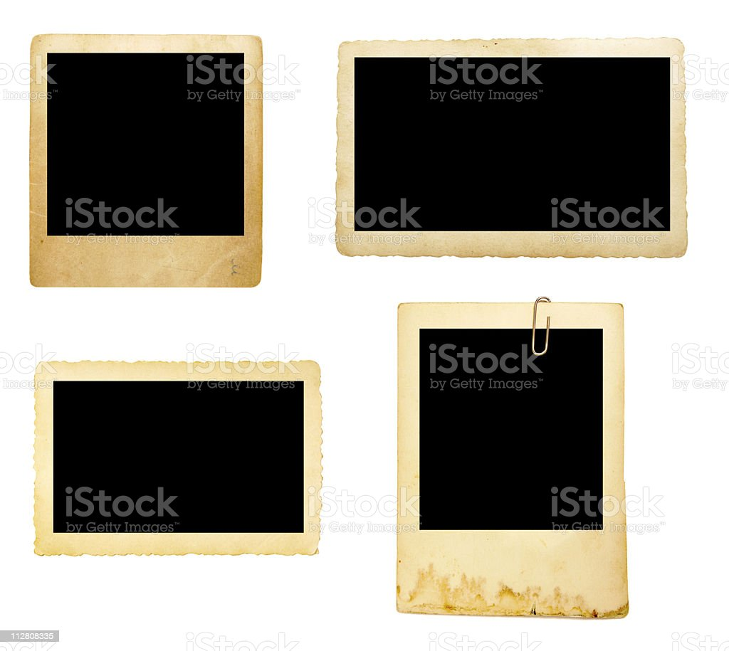 old picture frame group stock photo