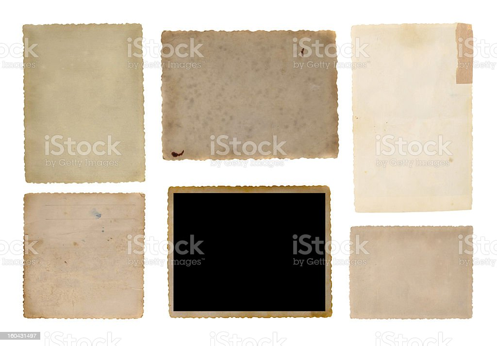 old picture frame group royalty-free stock photo