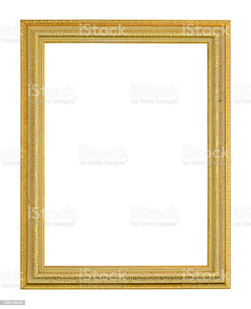 Old picture frame stock photo
