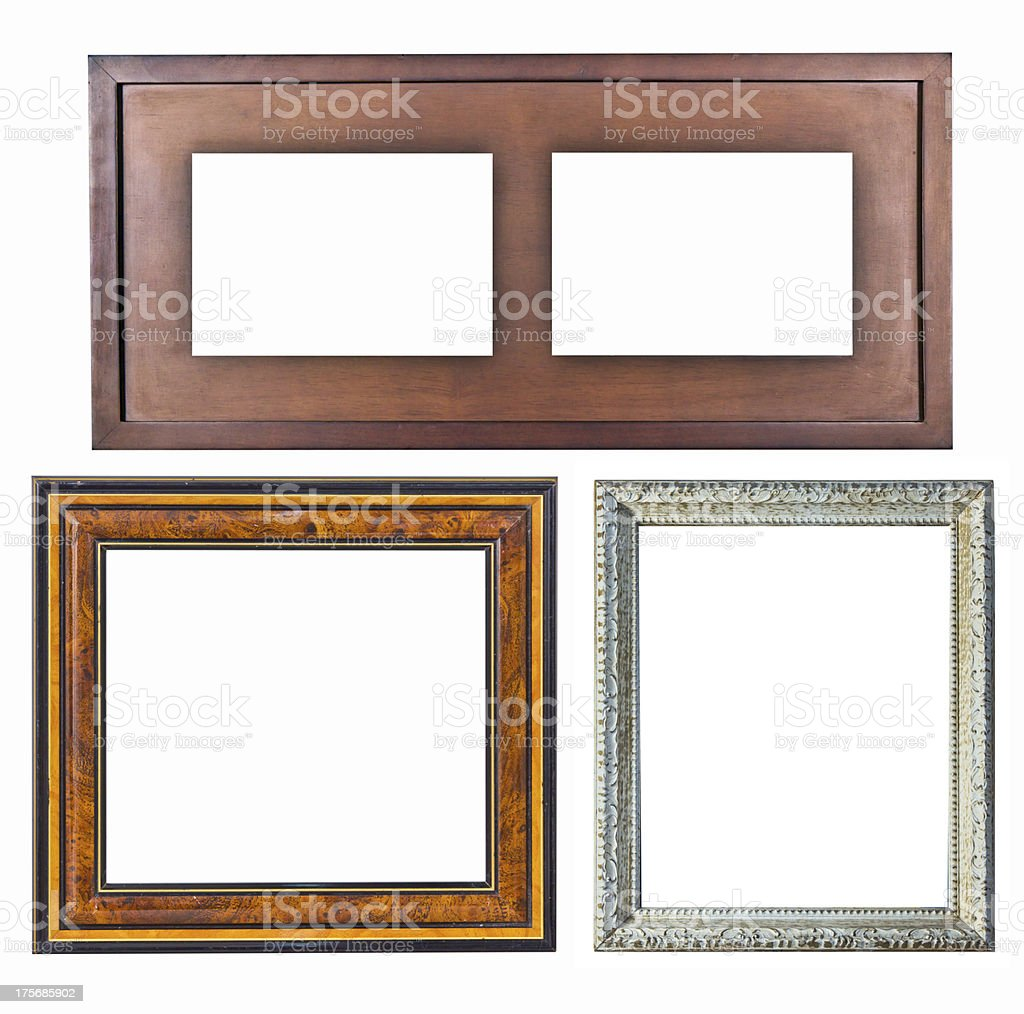 Old picture frame wood style royalty-free stock photo