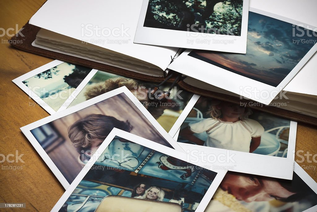 Old Pictures and Journal stock photo