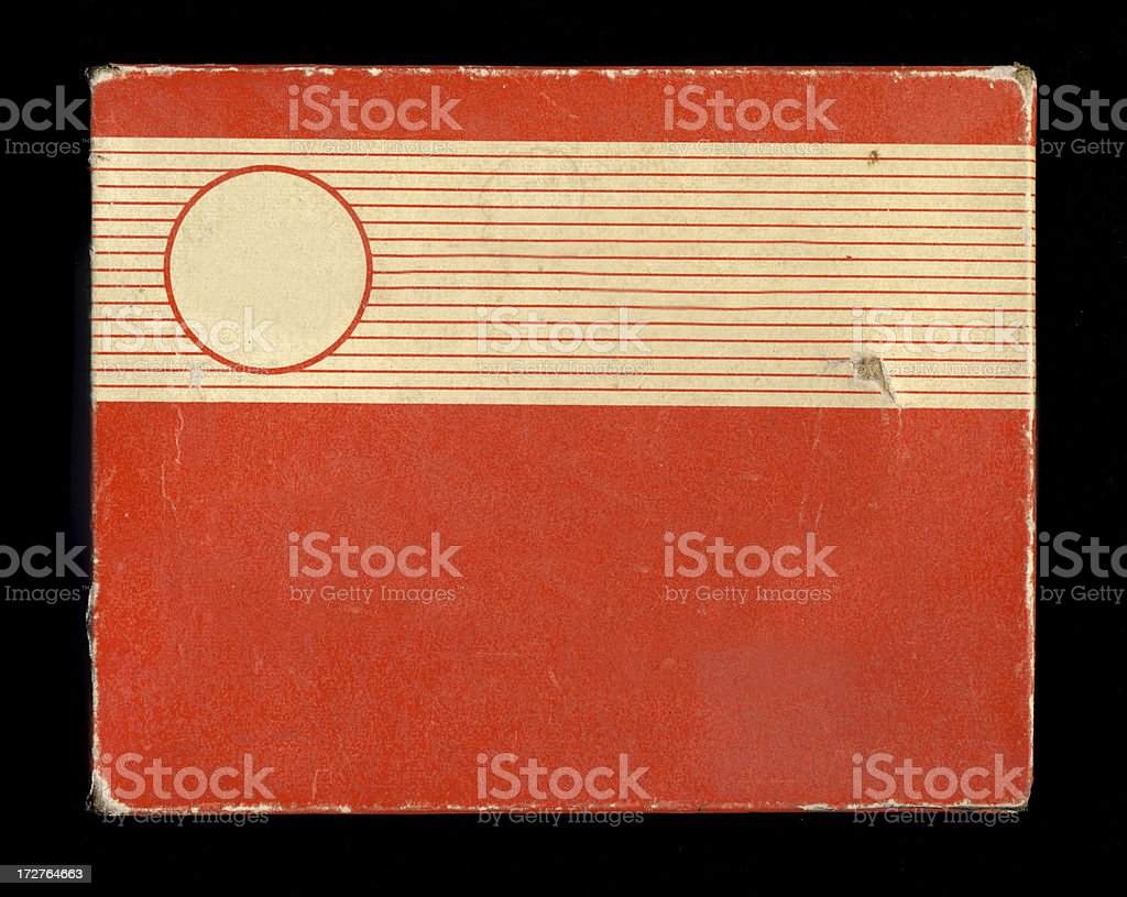 Old piece of cardboard paper royalty-free stock photo