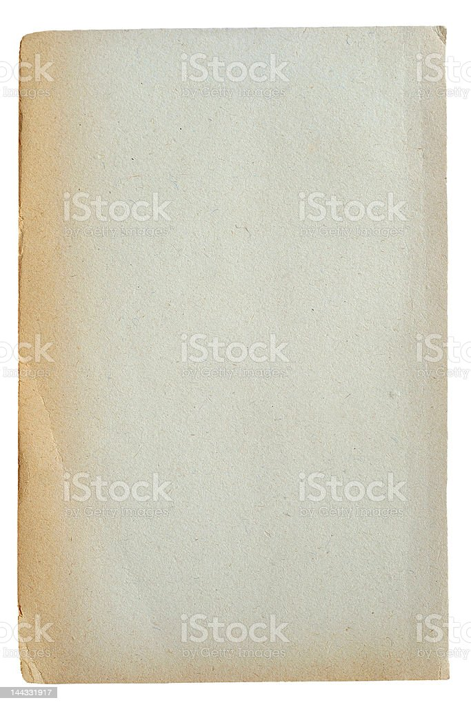 old piece of paper ( XXL - Clipping Path ) royalty-free stock photo