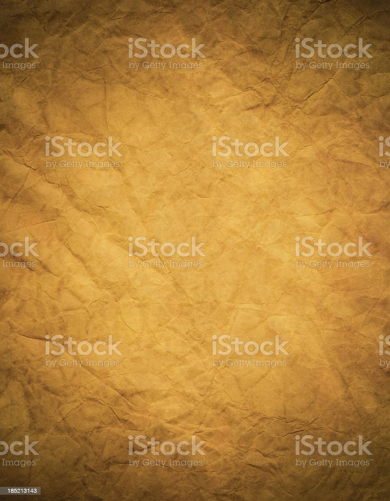 Old piece of parchment paper royalty-free stock photo