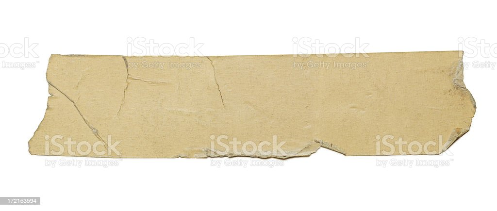 Old Piece of Tape royalty-free stock photo