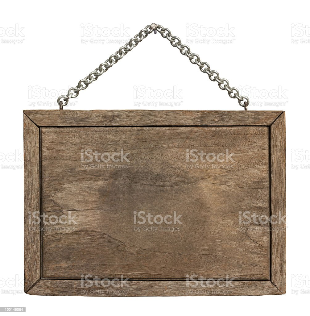 Old piece of weathered wood signboard. royalty-free stock photo